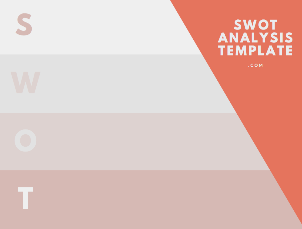 Swot Analysis Template Blank Download